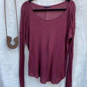 Brandy Meville Lightweight Sweater Burgundy